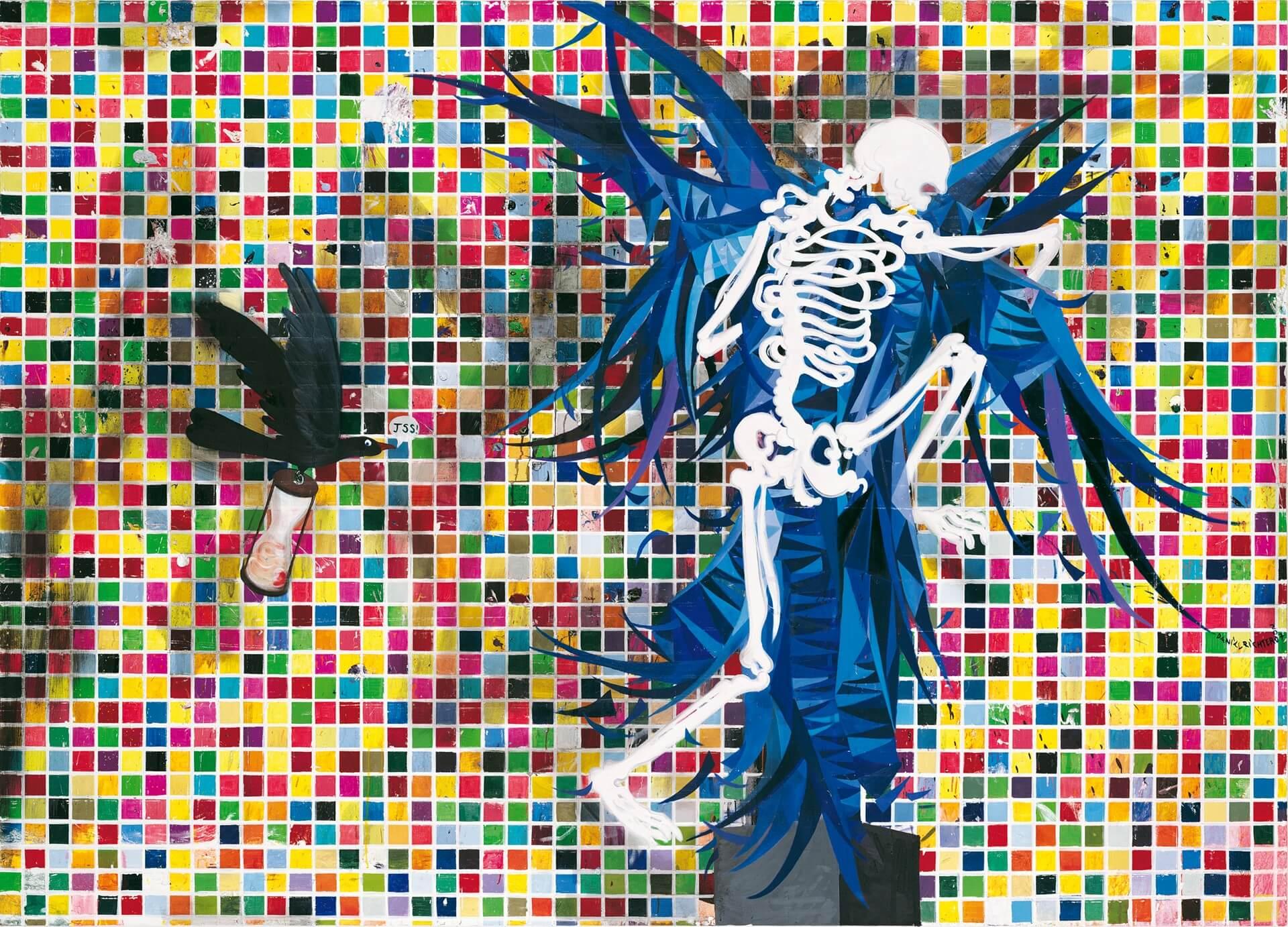 Daniel Richter, Alles Ohne Nichts, 2006-2007 Tatintsian Collection, © Jochen Littkemann, Berlin / © Bildrecht, Wien 2017 Öl auf Leinwand 230 x 320 cm.