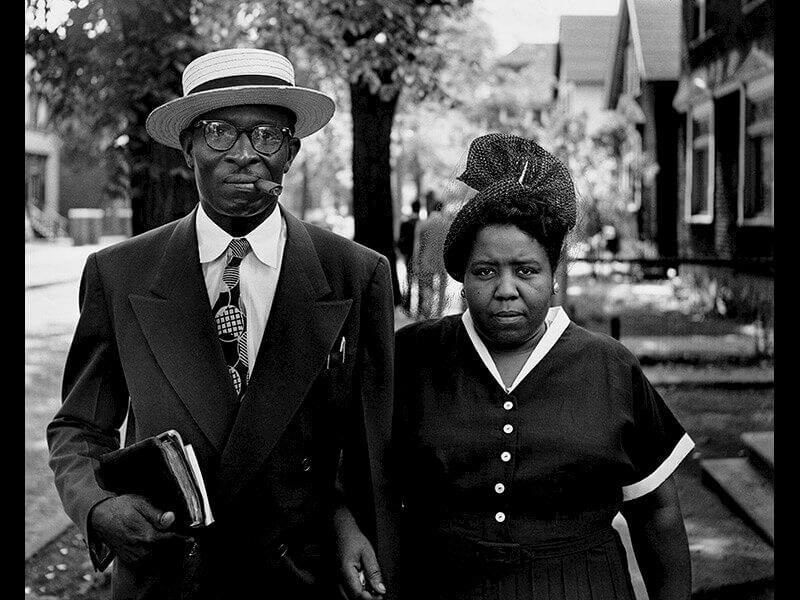 Gordon Parks: Husband and Wife, Sundaymorning, Detroit, Michigan © The Gordon Parks Foundation