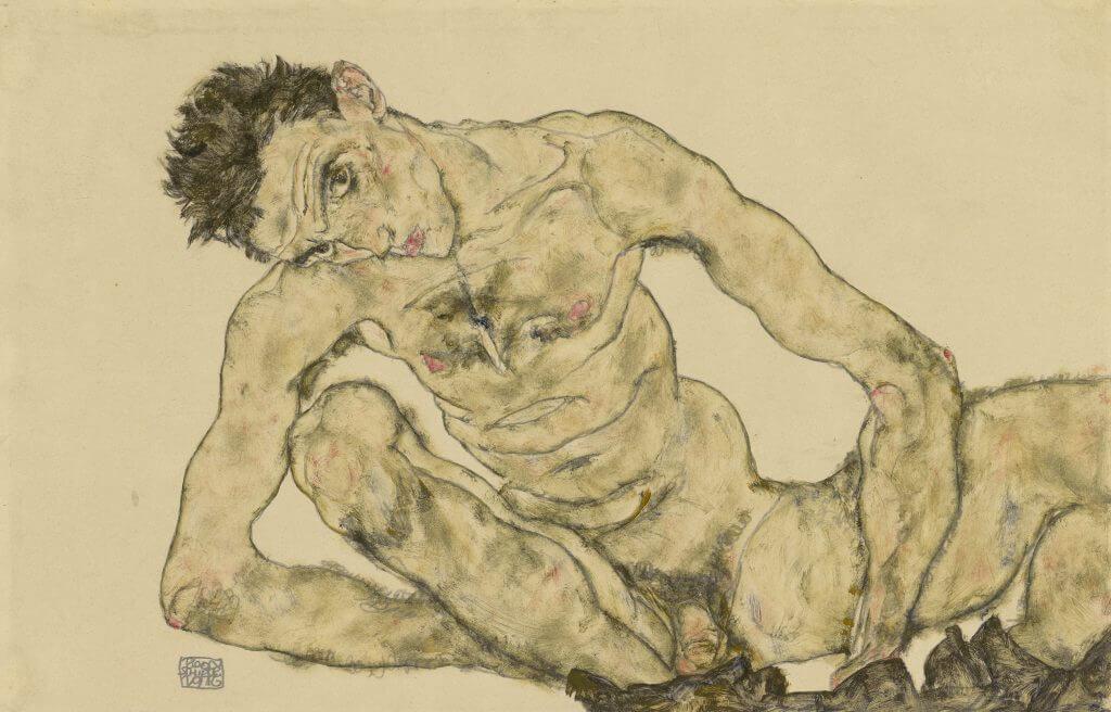 Egon Schiele, Aktselbstbildnis, 1916, © Albertina Wien