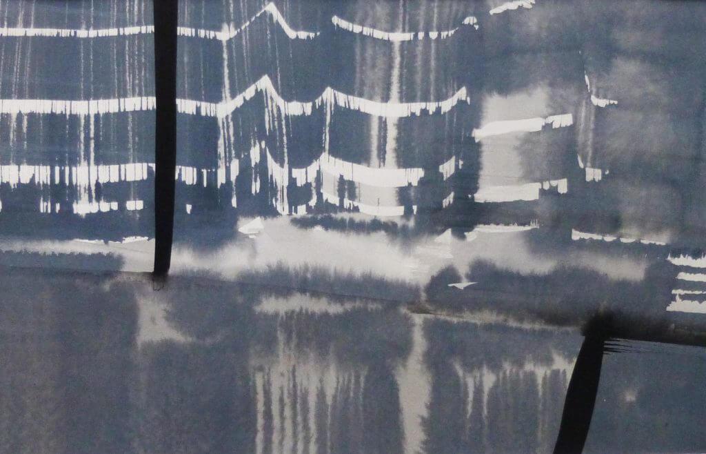 Esther Naused, o.T., 2017, Tusche und Acryl auf Papier, Galerie Carolyn Heinz