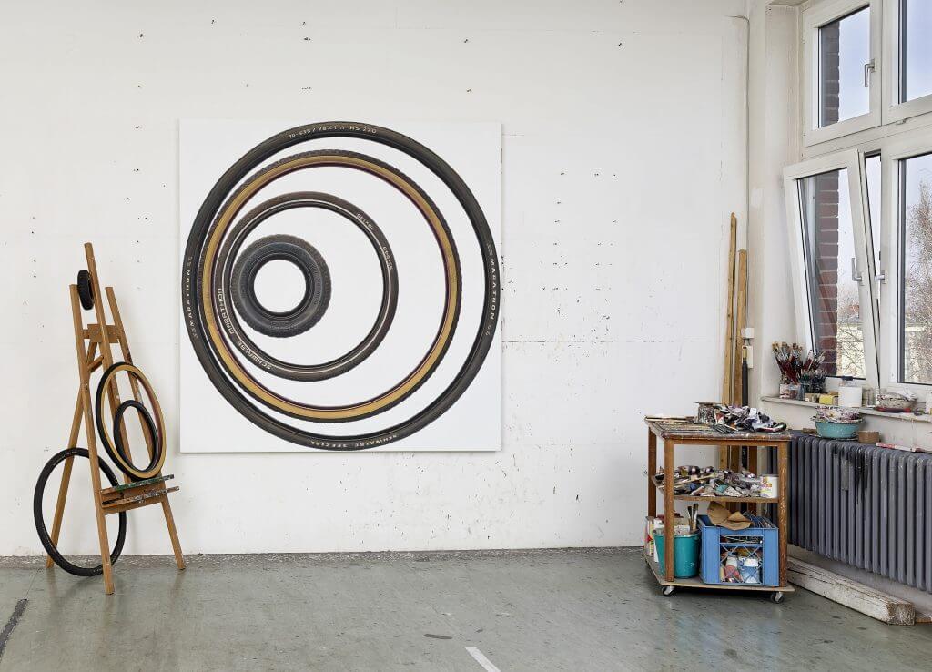 René Wirths, Das Was Bleibt. Atelieransicht, Foto: Eric Tschernow.