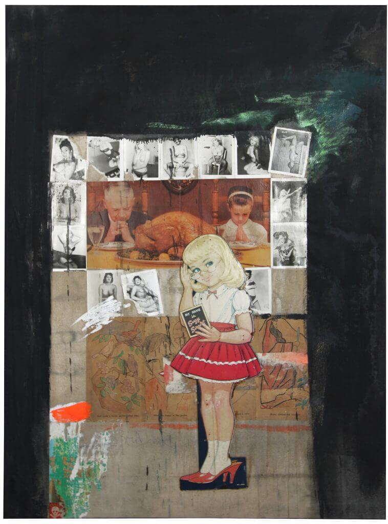 "Boris Lurie: ""Untitled (Suzy Sweet)""; 1963 © The Boris Lurie Art Foundation"