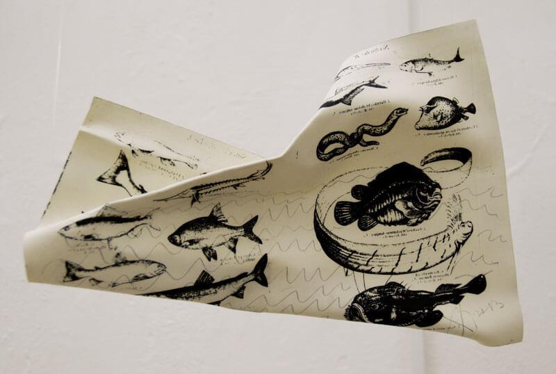 Xenia Ostrovskaya, A sketch with fish, 2017 © Xenia Ostrovskaya