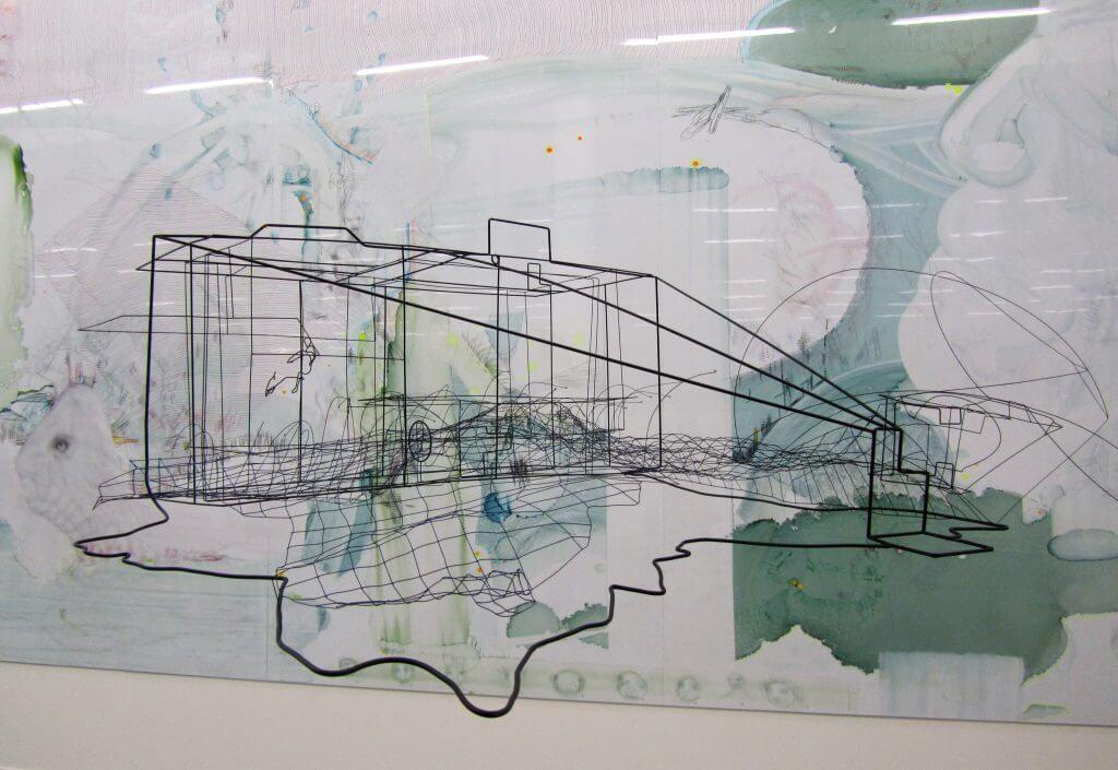 Ausstallungsansicht Kunstverein in Hamburg mit Arbeiten von Constantin Luser