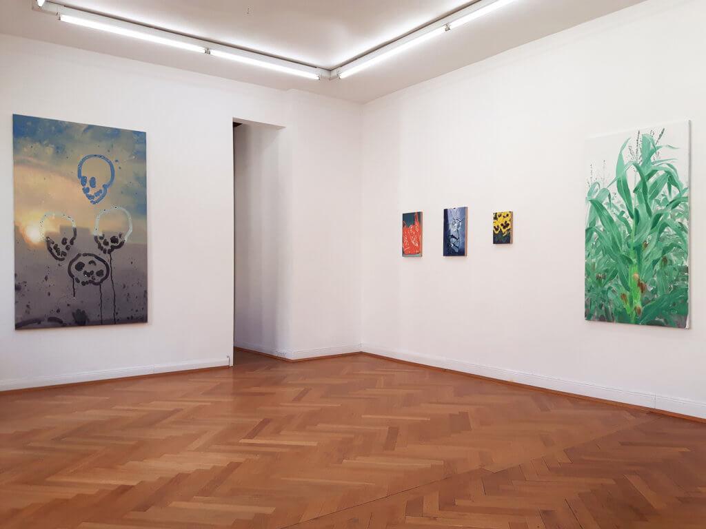 """Ausstellungsansicht, Markus Willeke, """"PoolBlindCrash"""", Galerie Sima"""