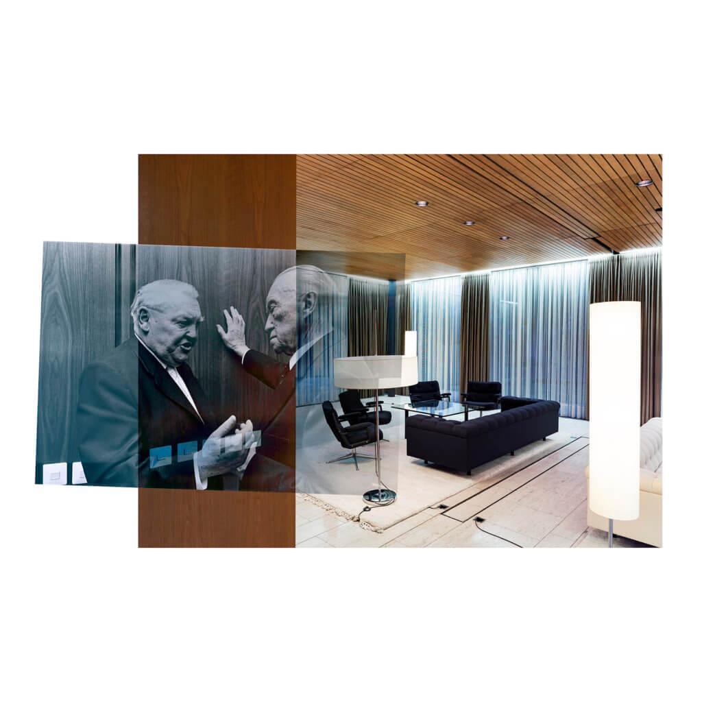 KB Nr.1, 1964/2016, Copyright Bundesregierung / Fotograf Georg Munter; Dirk Brömmel, 110 x 110cm, Ed. 4, Mixed Media / Aludibond, gerahmt.