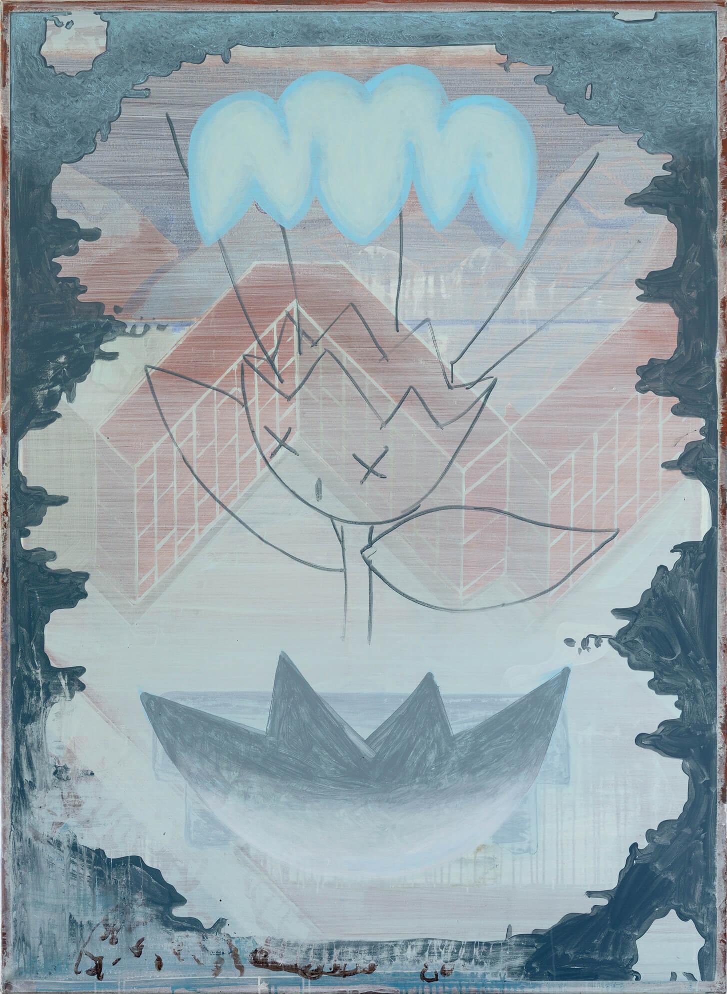 Ludwig Hanisch: Firepot. Acryl auf Baumwolle, 2015 © the artist