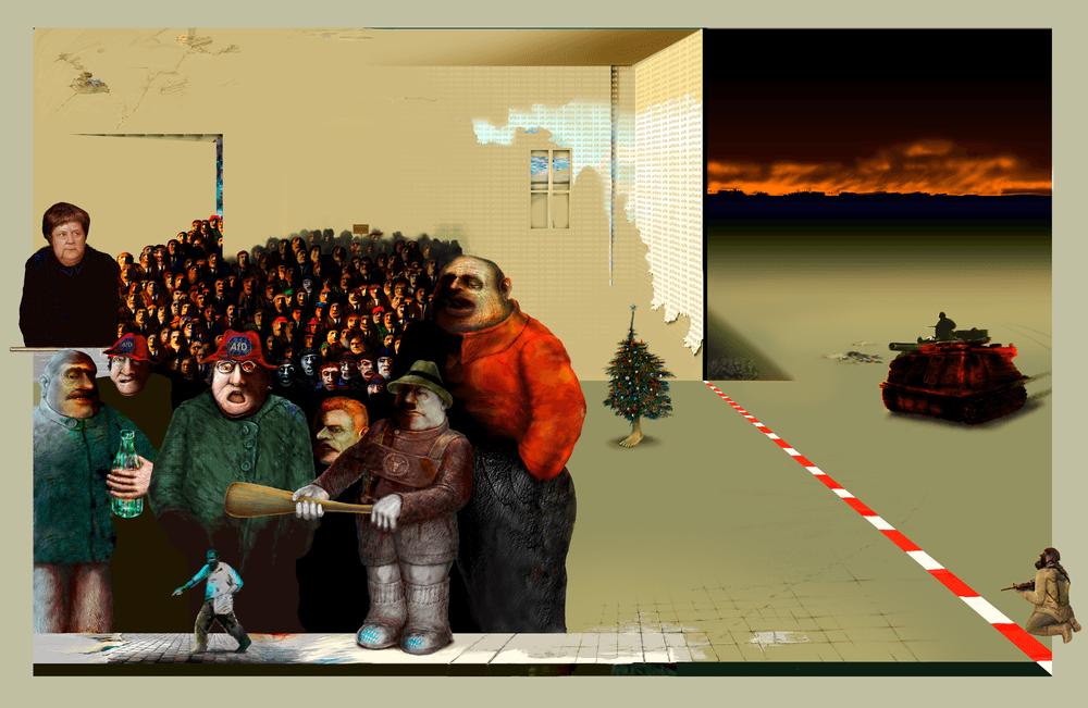 Rolf Fütterer - Das schaffen wir,Collage 2017