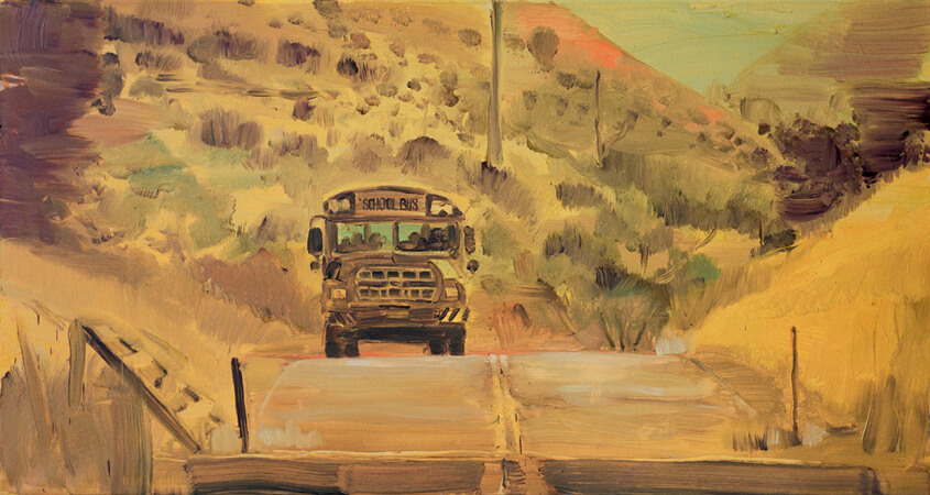 Schoolbus (Front), 2008 oil on canvas, 90 x 170 cm