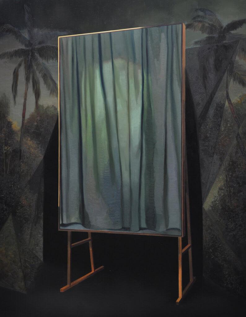 "Benjamin Moravec: ""sans titre"", 2017, Öl auf Leinwand, 190x150cm"