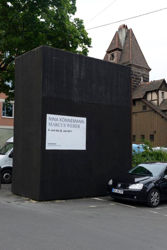 Kunstbunker, Außenansicht, Am Bauhof, Nürnberg. Foto: Johannes Kersting/Courtesy: kunstbunker forum für zeitgenössische kunst e. V.