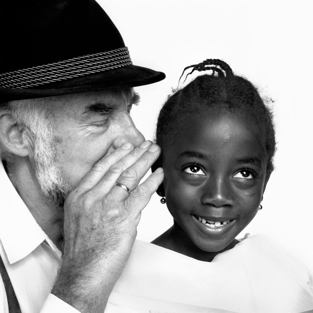 Herlinde Koelbl: Jan Boettner aus Deutschland und Inas Souleimane aus Togo © Herlinde Koelbl