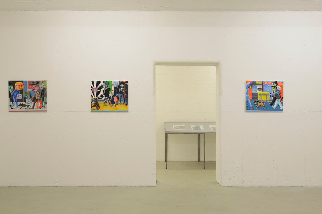Marcus Weber: Adalbertstraße 2008-2010, Installationsansicht, kunstbunker forum für zeigenössische Kunst e. V., Nürnberg, 2017. Foto: Johannes Kersting/Courtesy: kunstbunker forum für zeitgenössische kunst e. V.