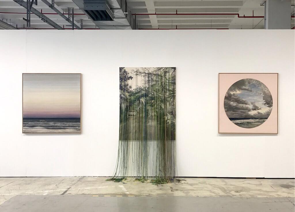 """Ausstellungsansicht der """"Werkschau"""" 2017, Arbeiten von Linda Männel, Foto: Miret Rodriguez"""
