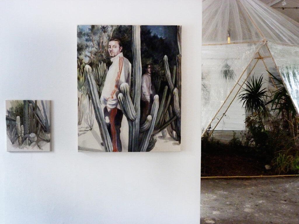 """Ausstellungsansicht """"Kathrin Hausel – Mata Forgana"""", Kulturort Badstraße 8, Fürth, 2017"""