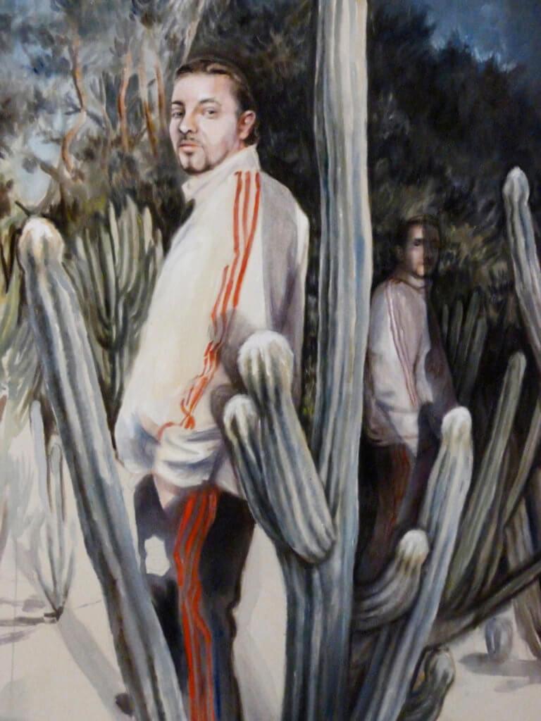 "Kathrin Hausel: ""Da wo"", 2017, Öl auf Leinwand, 110x90 cm"