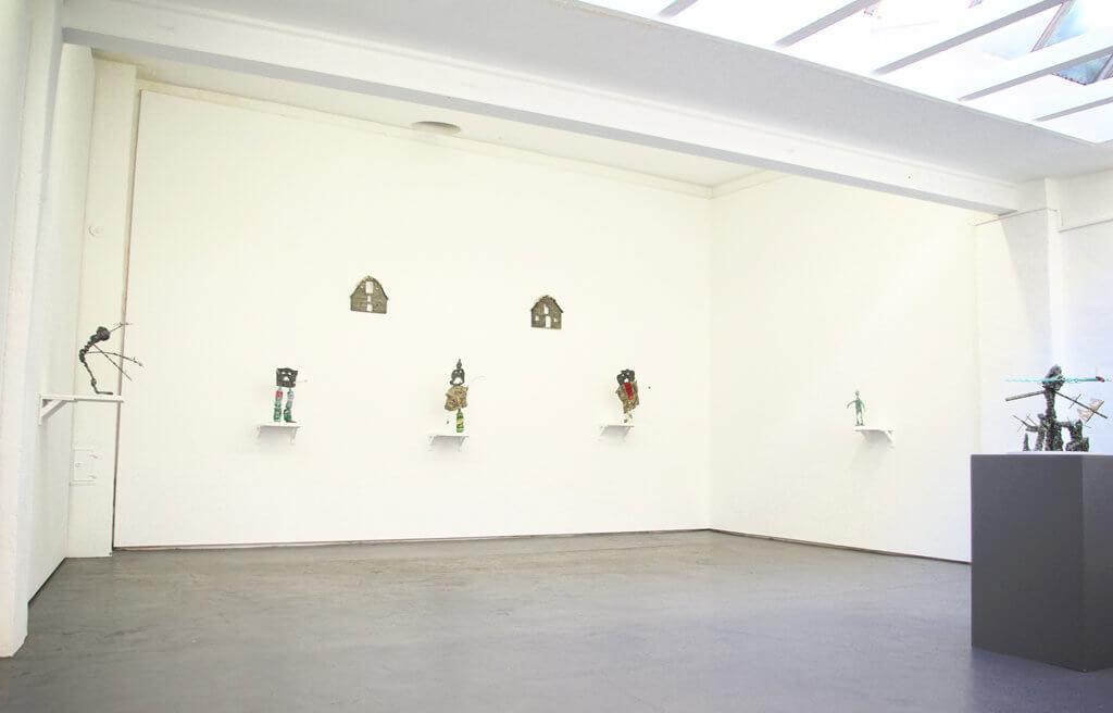 """Ausstellungsansicht """"Arms, Eyes, Detritus"""", Galerie Sturm, 2017"""