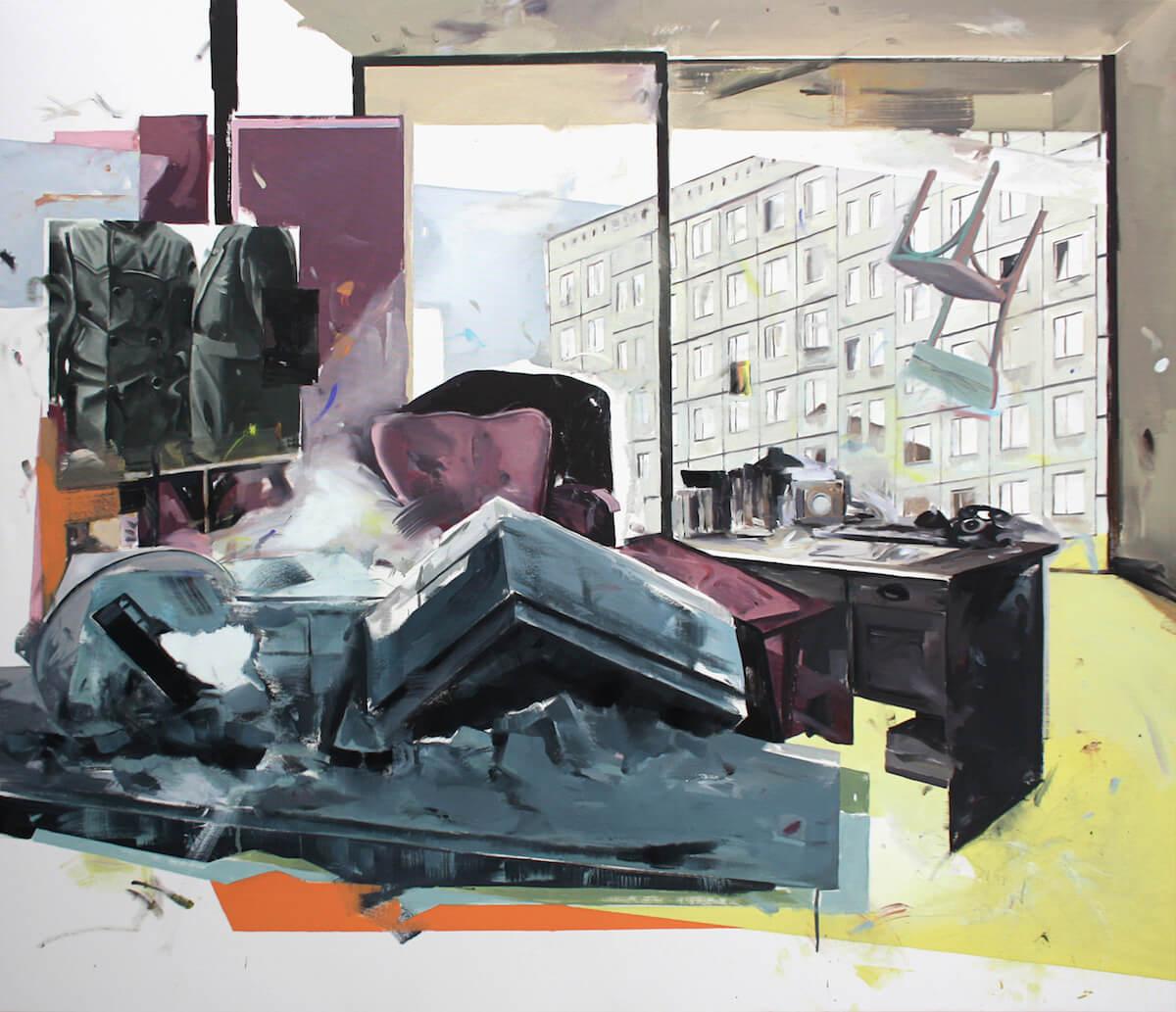 AAA+: Christoph Rode, die taegliche Bestuhlung, Öl auf Leinwand, 2017, Courtesy AAA+Galleries