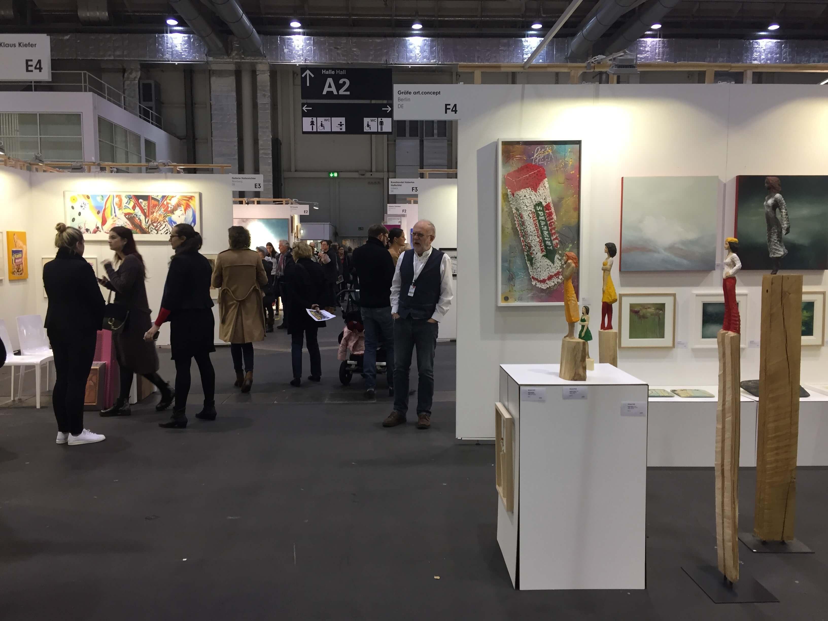Affordable Art Fair 2017, Impression Messegelände. Foto: Martina John
