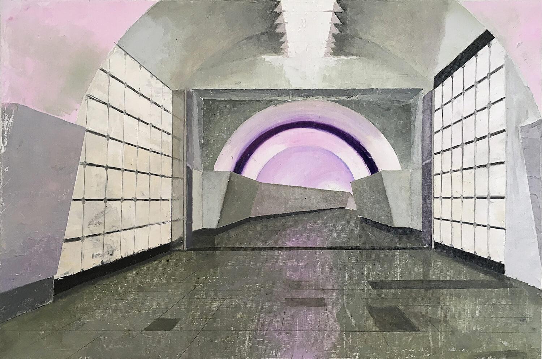 Martin Kasper, Metro 1, 2017, Öl auf Leinwand, 60 x 90 cm