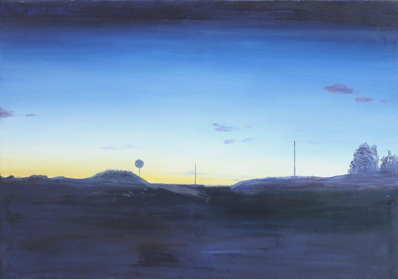 Felix Rieger: Villadecans, Öl auf Leinwand, 2015