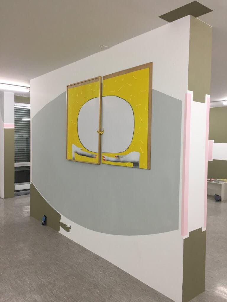"""Detail aus der Rauminstallation """"WeChat"""", Verena Issel, 2018"""