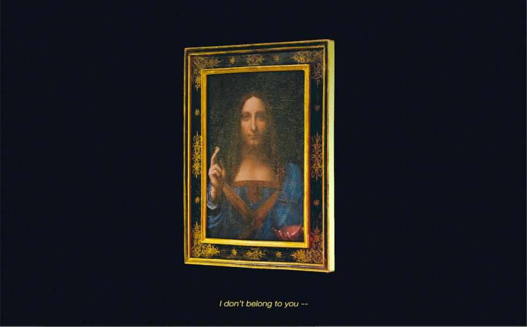 3D Animation des Gemäldes Salvator Mundi von Leonardo da Vinci, Still aus Video von Hedi Xandt