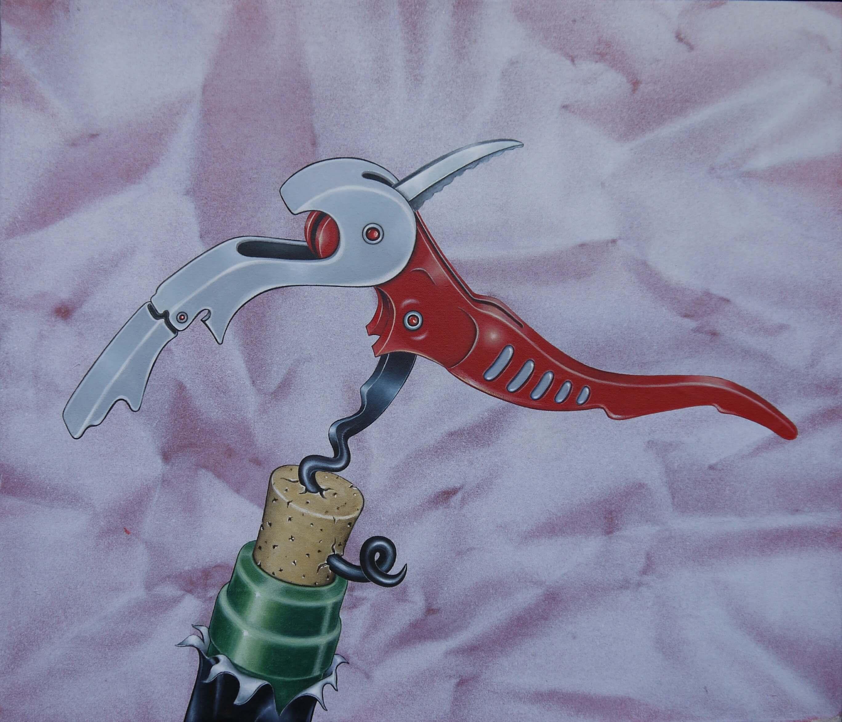 Bastian Raiss, Delirium Tremens, 2018, Acryl auf Leinwand, 77 x 89 cm