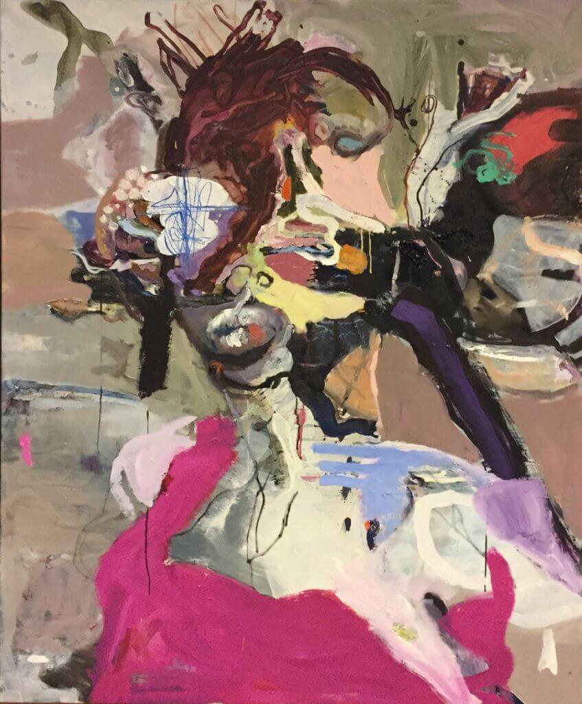 Gesine Englert: #036, 2018, Öl auf Leinwand,  160 × 140 cm