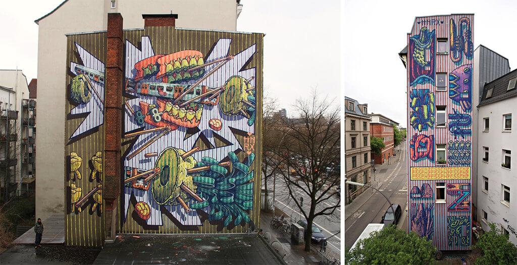 HNRX: Aktuelle Wandmalereien in Hamburg, 2018