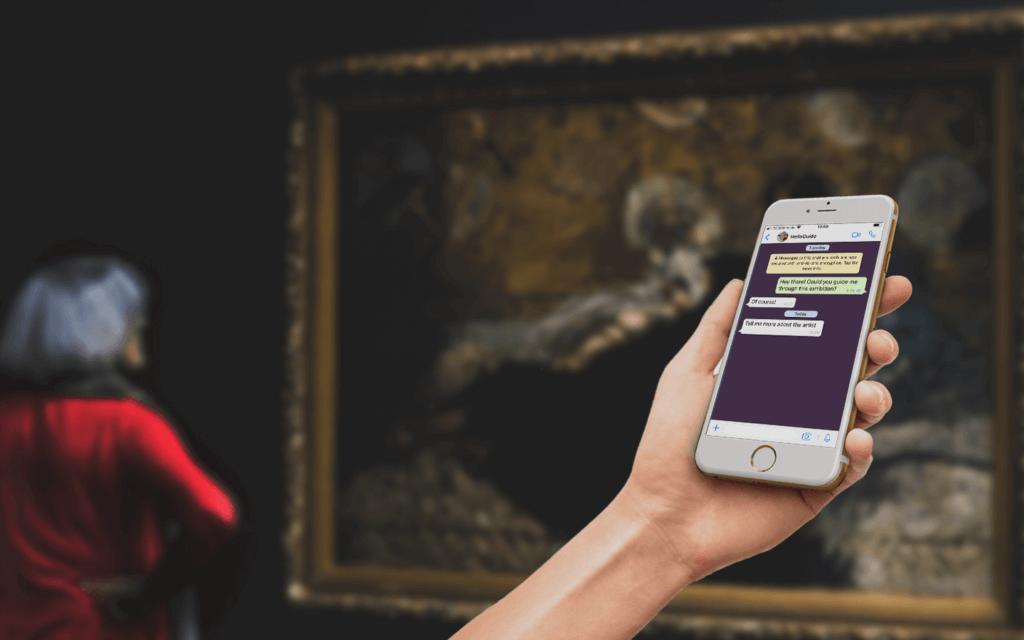"""Chatbots im Museum; Die Idee von """"helloguide"""""""