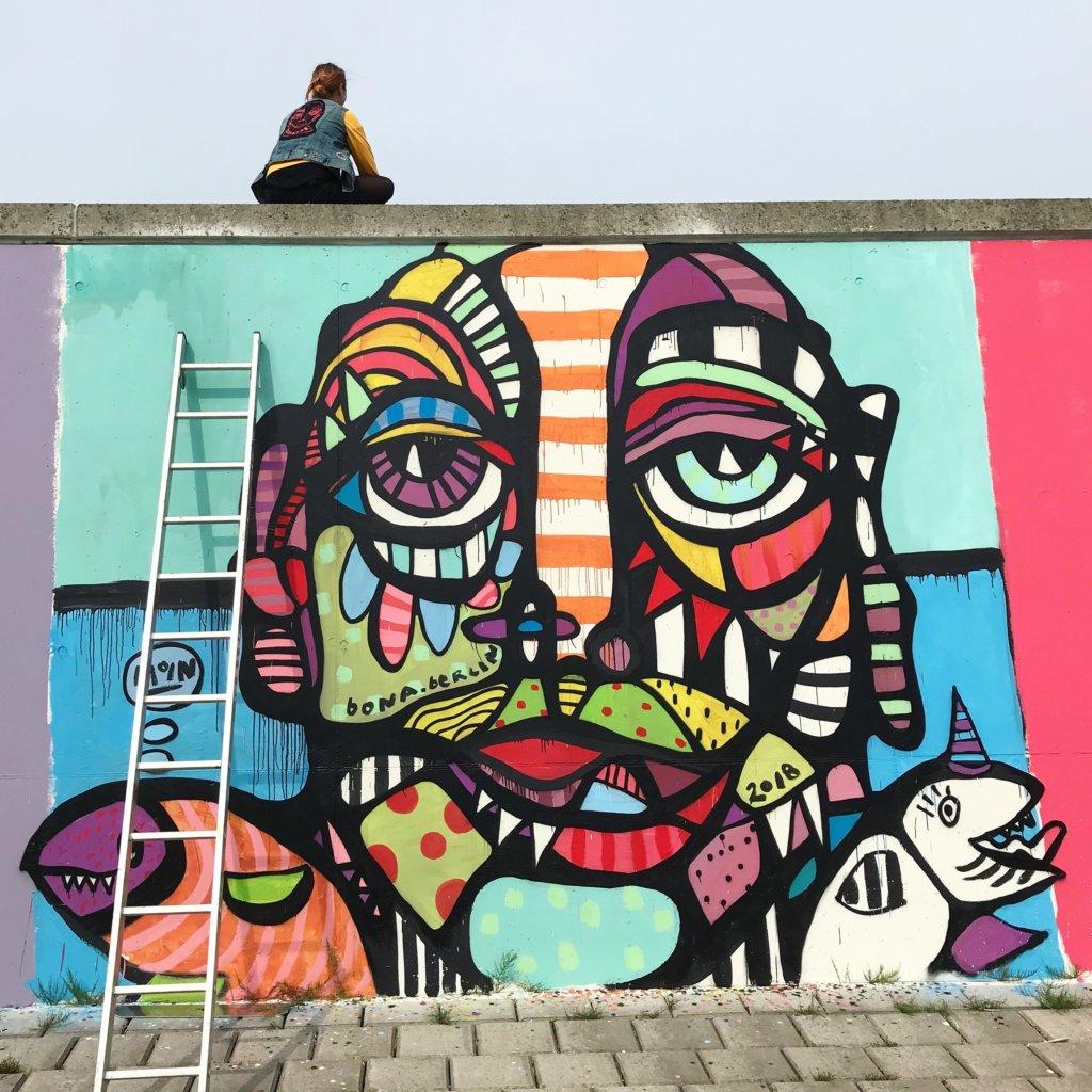 Bona Berlin: Mural beim Farbflut Festival, Bremen, Foto: Cathrin Hoffmann