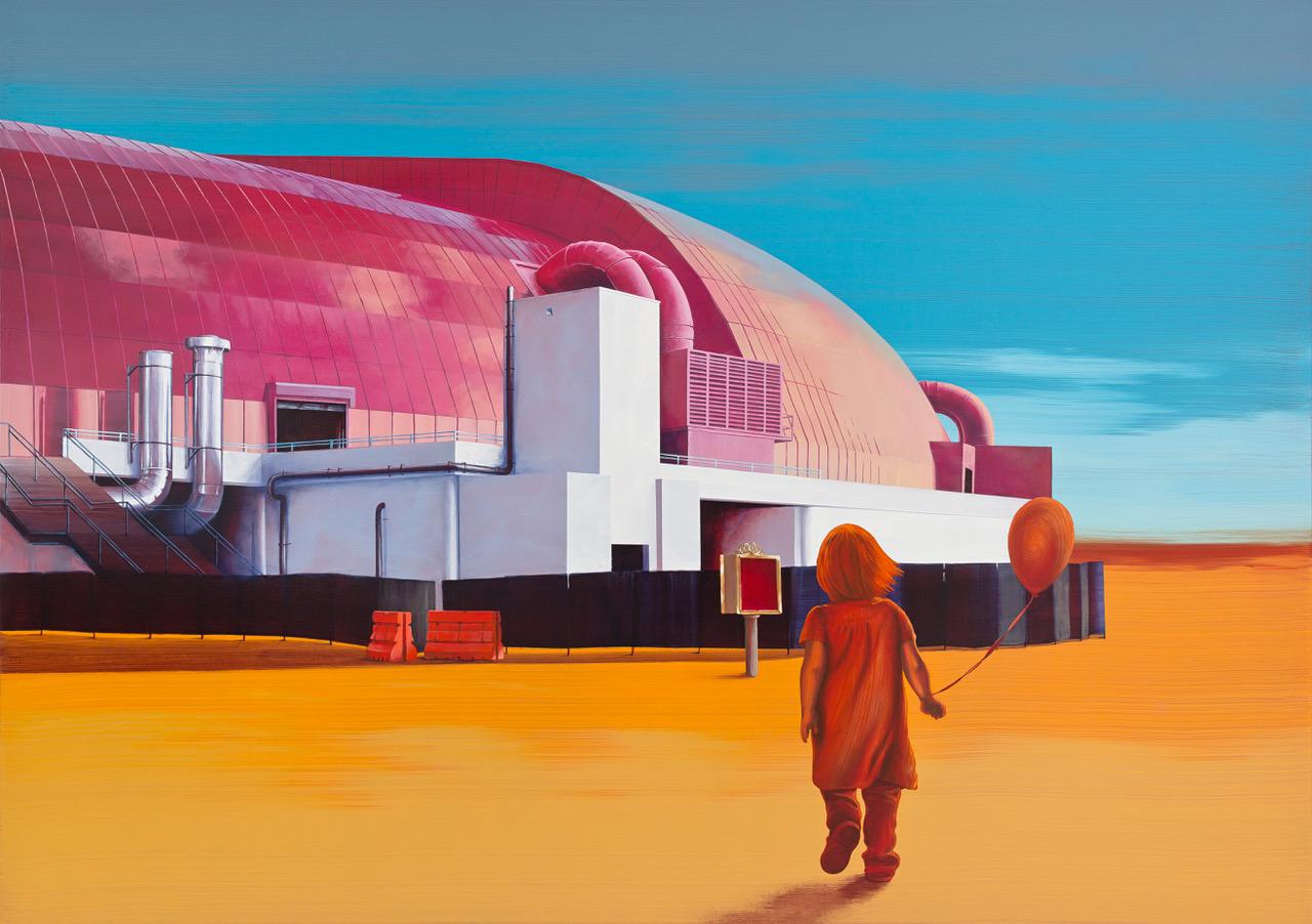 Robert Sturmhoevel | Ausflug, Acryl auf Leinwand, 170 x 240 cm, 2018