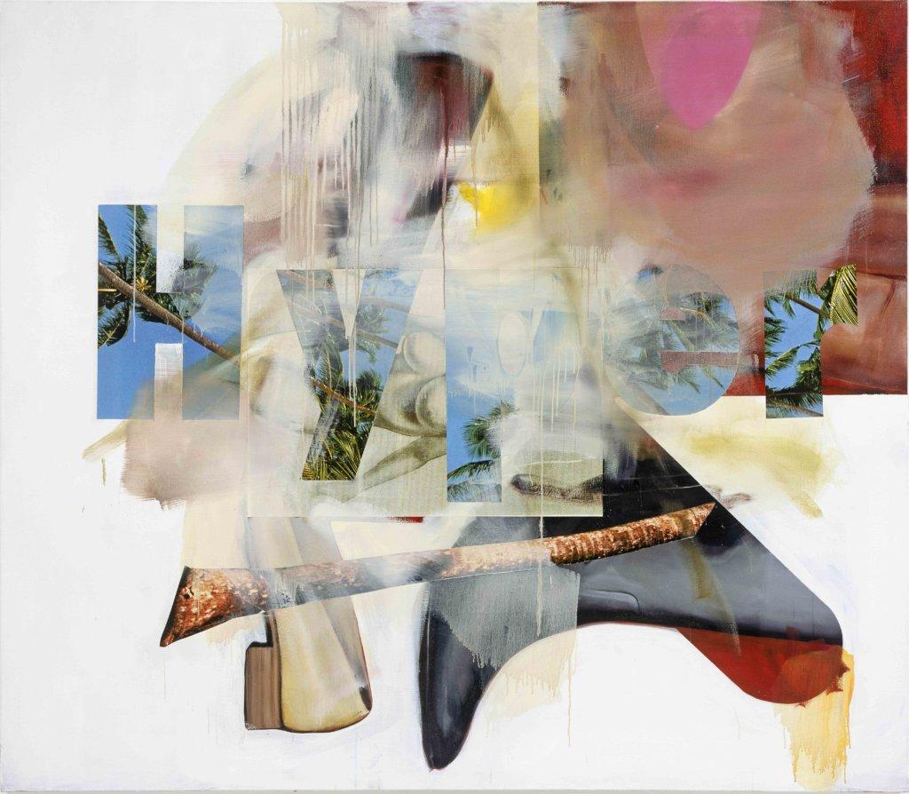 Albert Oehlen: Schuhe, 2008 Öl, Acryl, Papier auf Leinwand 200 x 230 cm Foto: Jörg von Bruchhausen © Albert Oehlen/VG Bild-Kunst Bonn 2018
