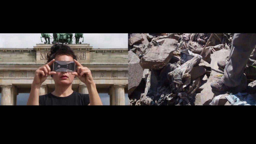 Hito Steyerl Abstract, 2012 (Detail) Zwei-Kanal-HD-Video, Ton 7:30 Min. © VG Bild-Kunst, Bonn 2019 Filmstill: © Hito Steyerl Courtesy: the artist, Andrew Kreps Gallery, New York and Esther Schipper, Berlin
