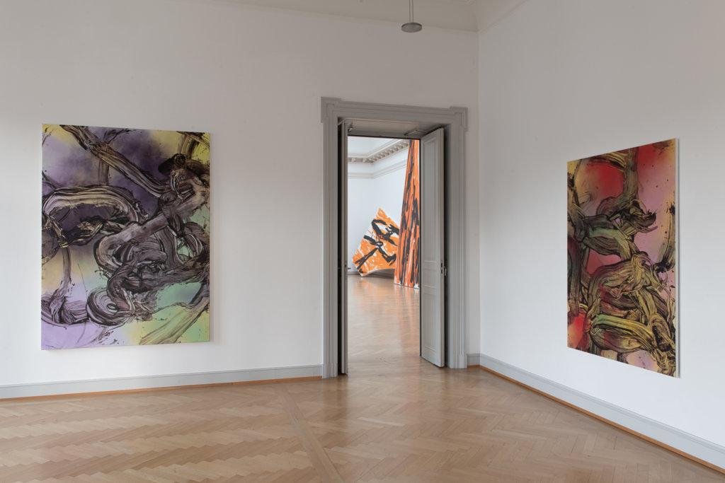 Judy Millar, Installationsansicht Kunstmuseum St.Gallen Foto: Sebastian Stadler