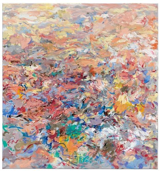 Uwe Kowski, Wäscheplatz, 2019, Öl auf Leinwand, 80 x 75 cm © Galerie EIGEN + ART Leipzig/Berlin, Foto: Uwe Walter, Berlin