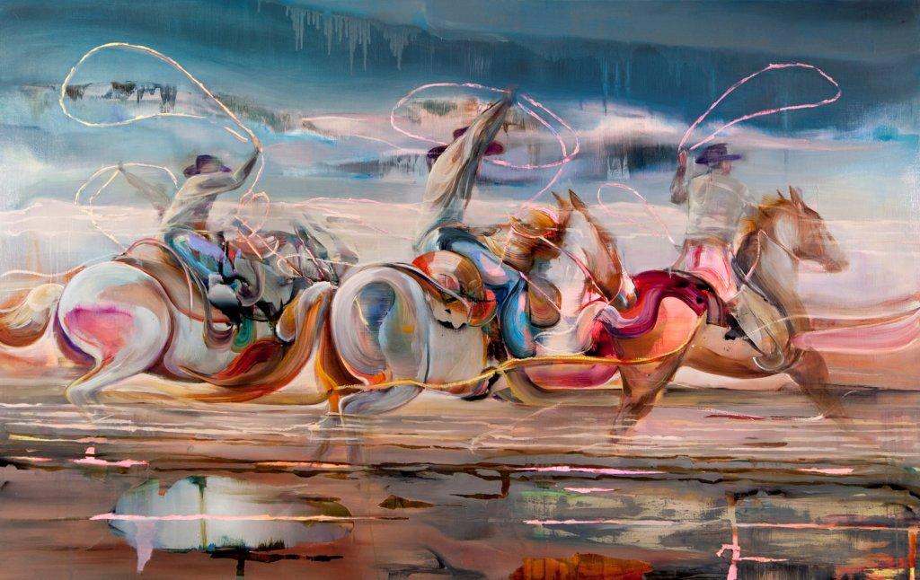 Justine Otto: triptec, 150 x 220 cm, Öl auf Leinwand