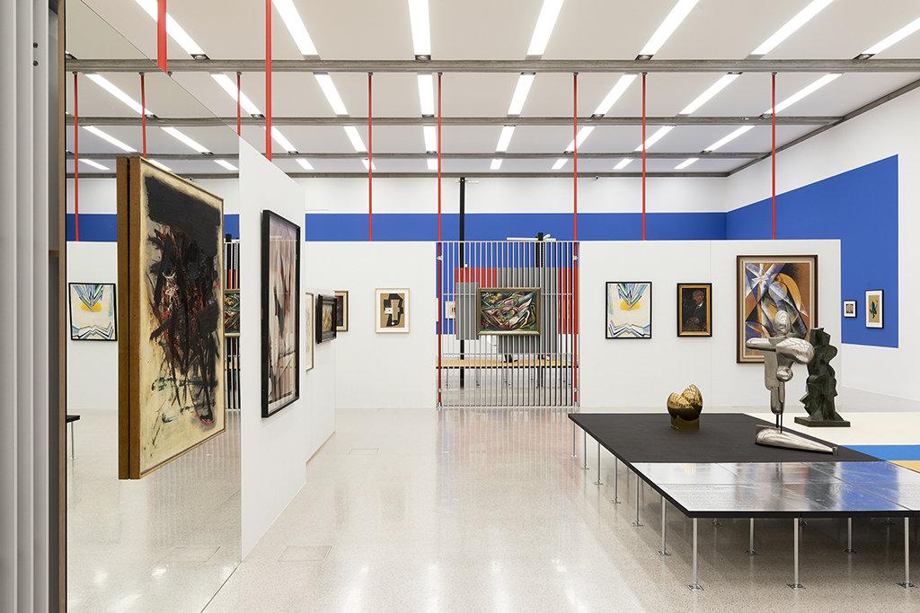 """Ausstellungsansichten """"Im Raum die Zeit lesen. Moderne im mumok 1910 bis 1955."""" Photo: Lisa Rastl © mumok"""