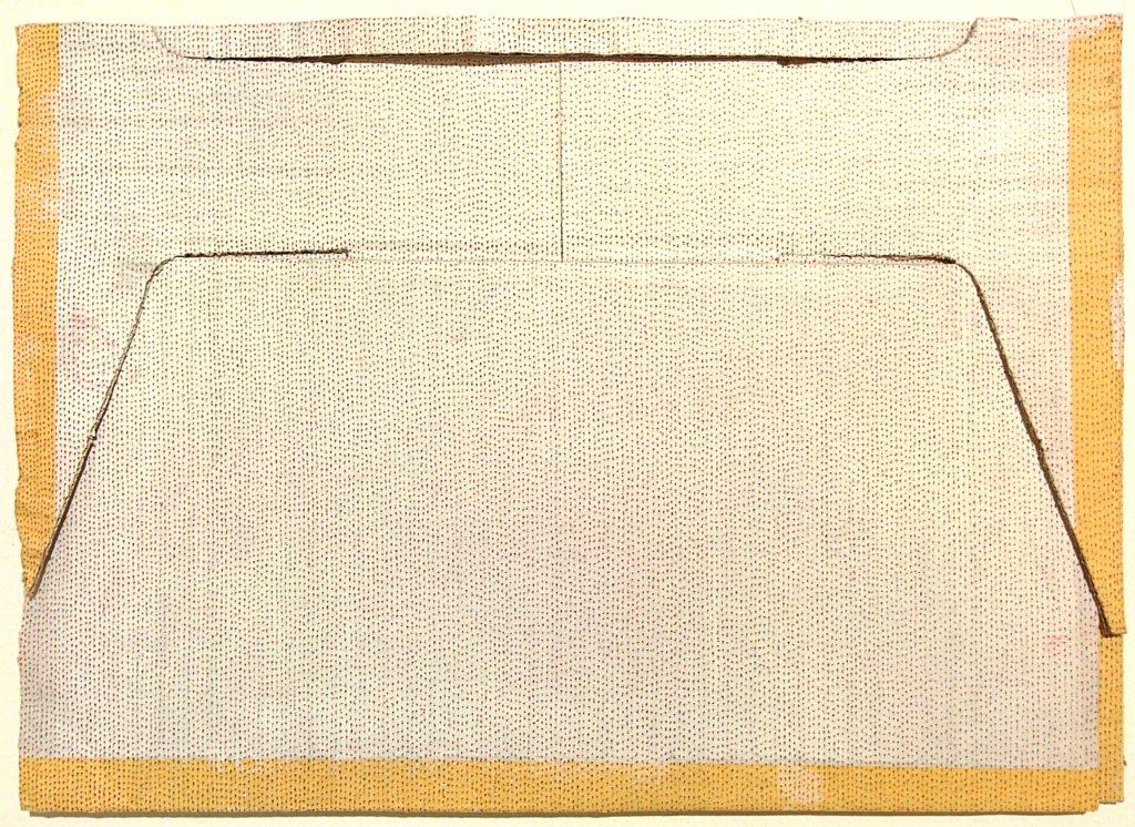 Johannes Regin: Ohne Titel, 2020, Bleistift, Fineliner auf Karton, 21 x 29,7 cm.