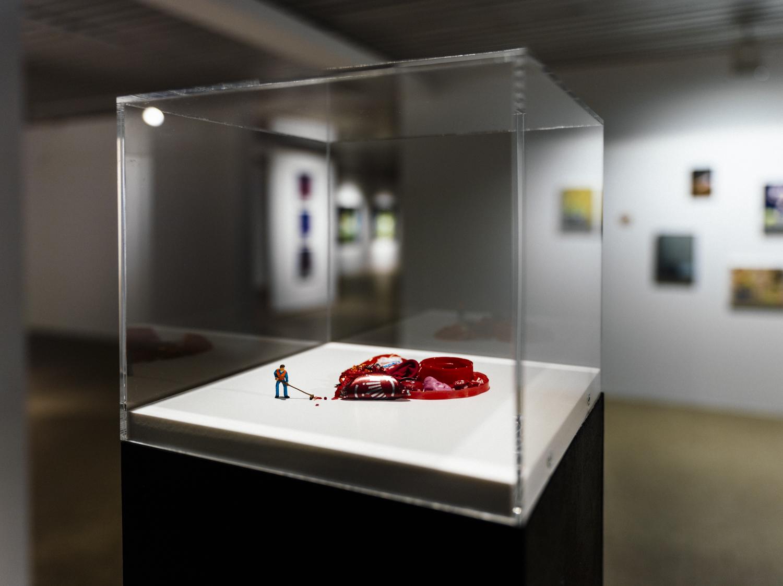 """Ausstellungsansicht """"Stilles Leben"""", Affenfaust Galerie, Credit: Tomas Engel"""
