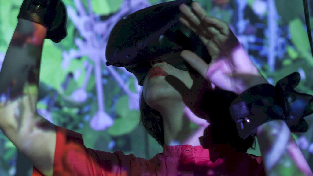 VR-Kunst in der Synthesis Gallery
