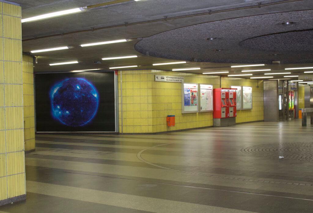 Plakat der Fotografin Katharina Sieverding in Nürnberg