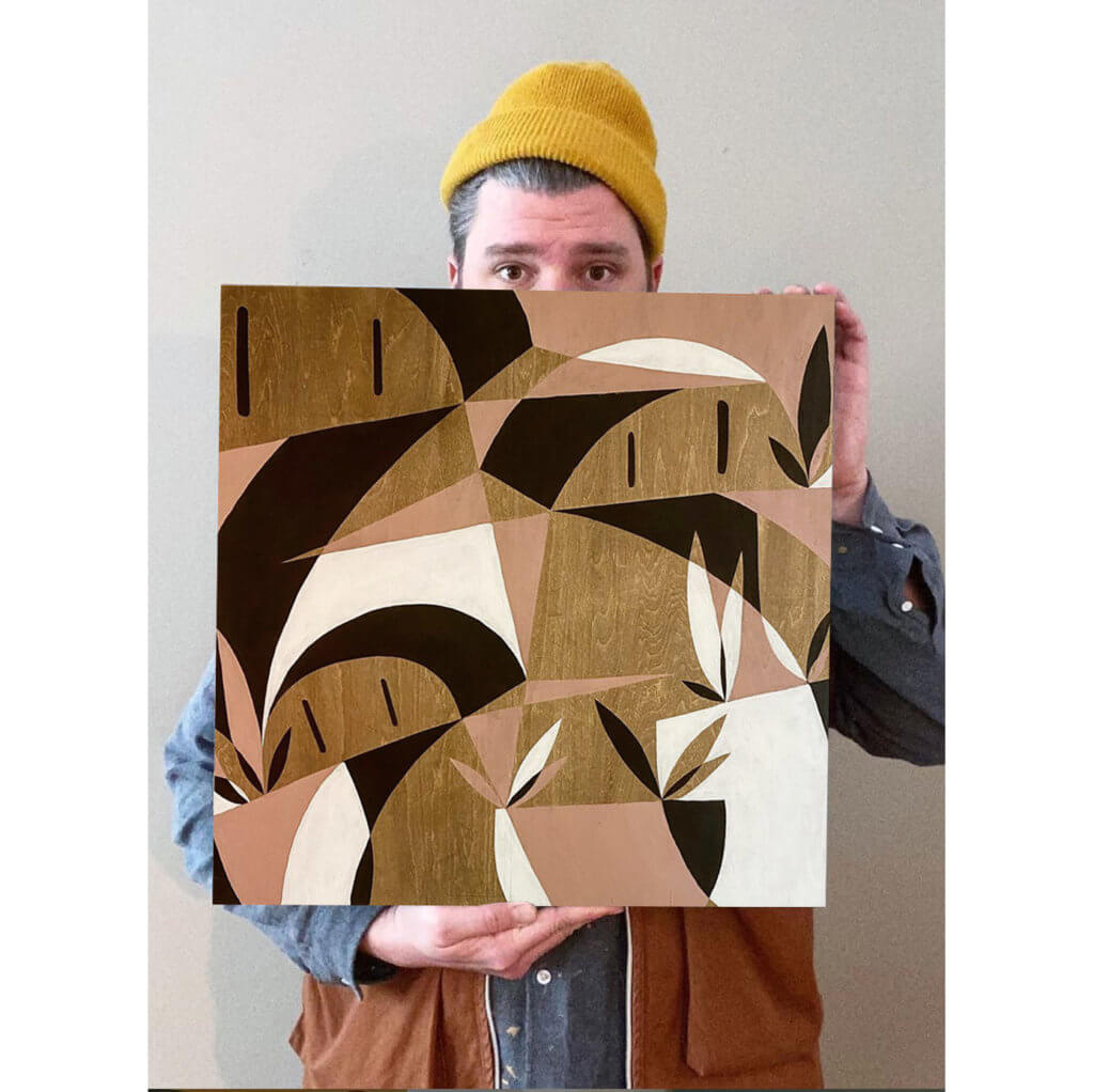 Bobby Serrano mit einem seiner Werke.