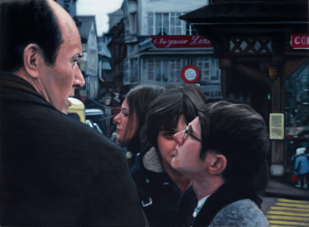 Foto zweier Menschen in Paris.