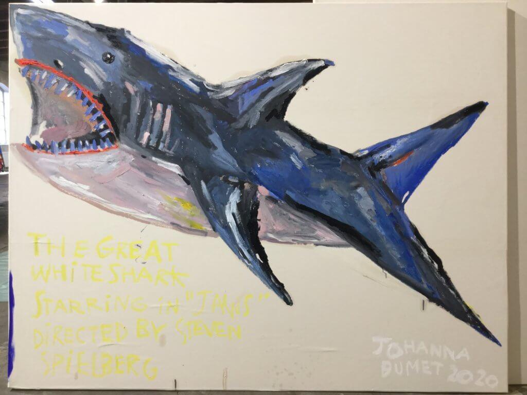 Malerei Haifisch von Johanna Dumet.