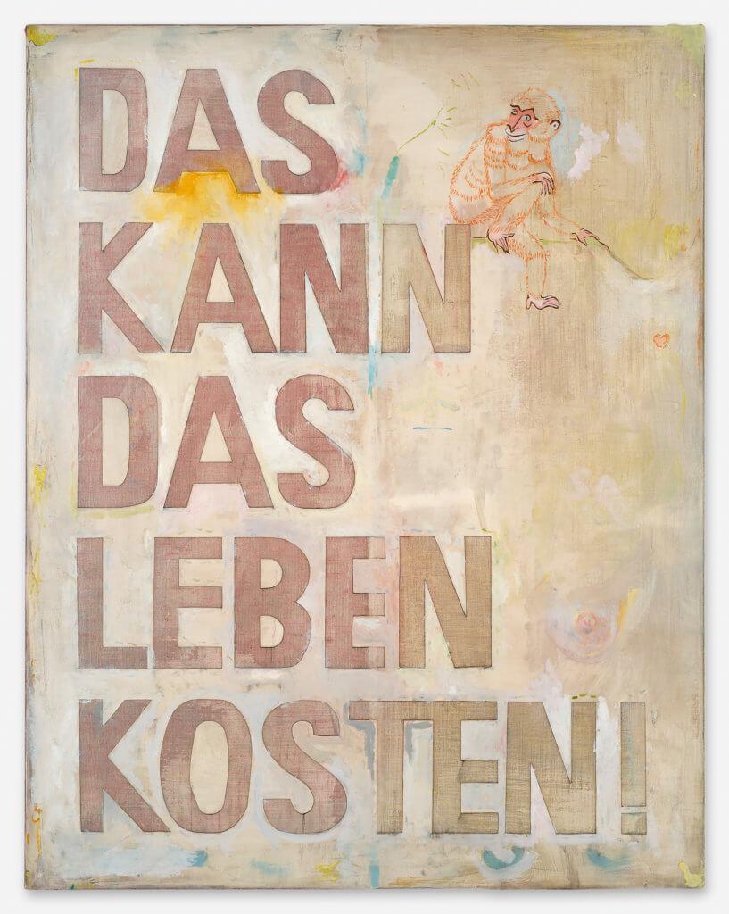 """Leinwand mit Beschriftung """"Das kann Leben kosten"""" von Sophie Reinhold."""