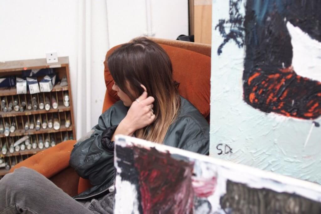 Porträt der Malerin Stevie dix