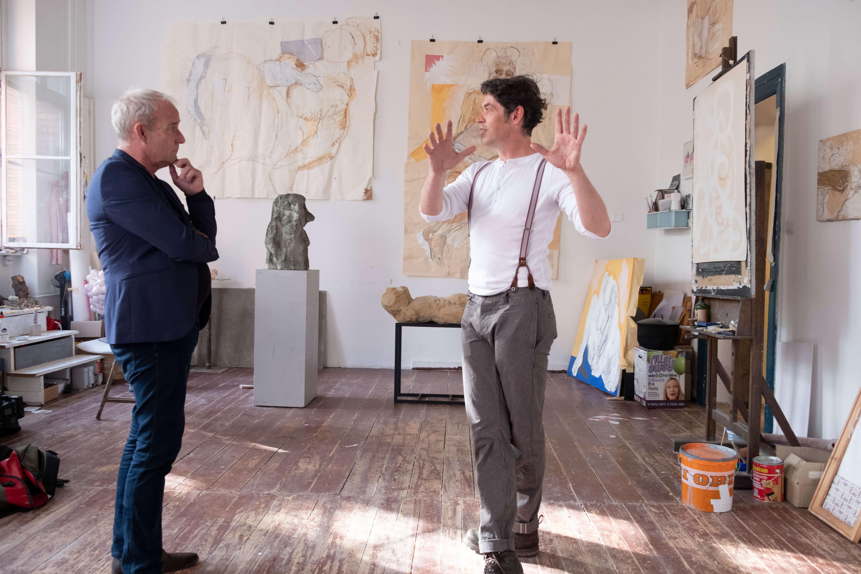Jan Gottschalk im Gespräch mit einem Besucher