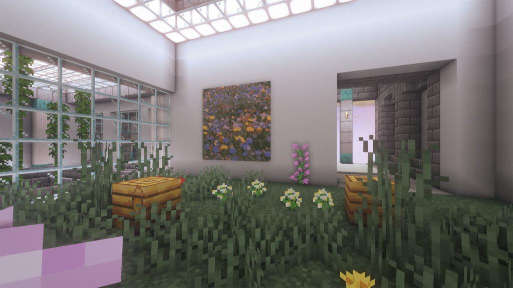 Bienenstöcke in Garten bei Mindcraft